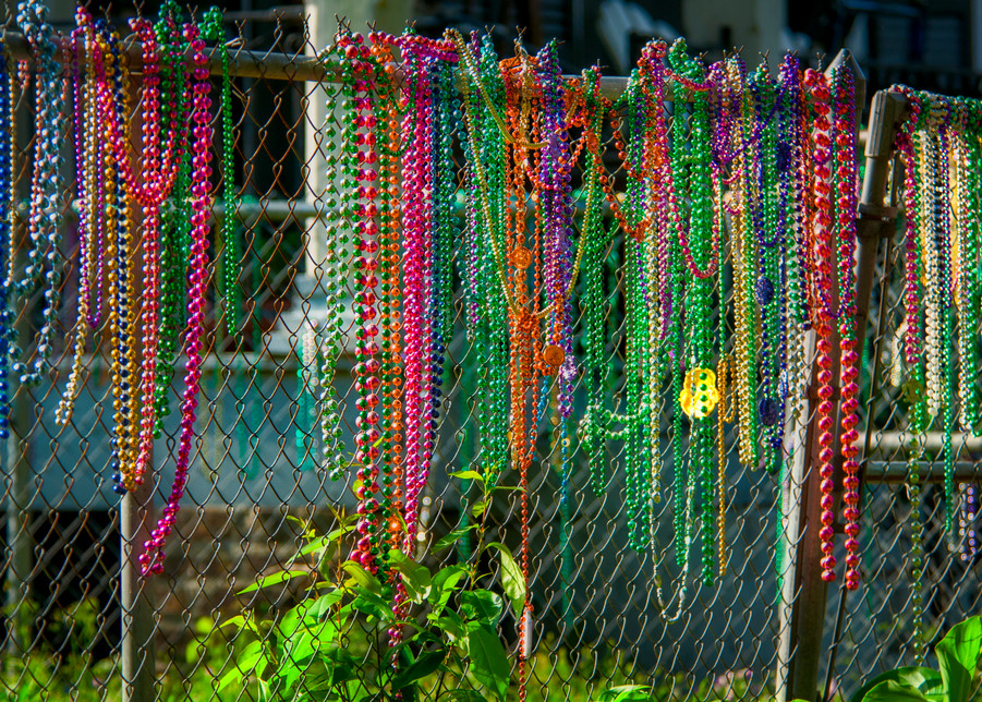 Mardi Gras fence - New Orleans fine-art photography prints