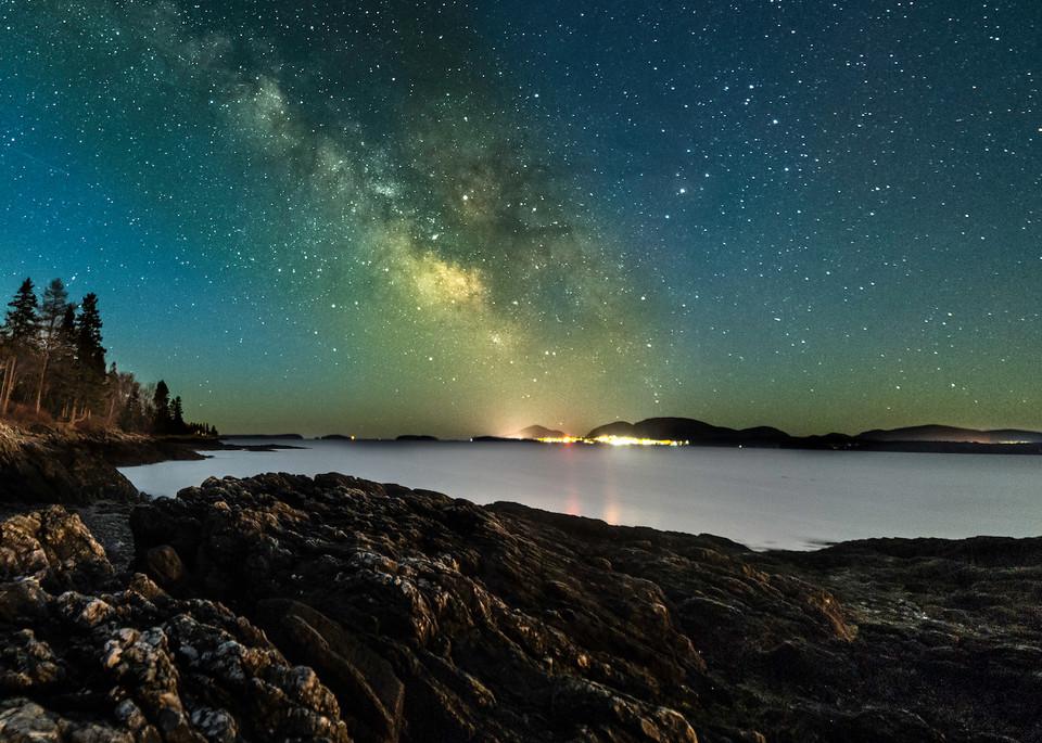 Bar Harbor Milky Way Photography Art | Monteux Gallery