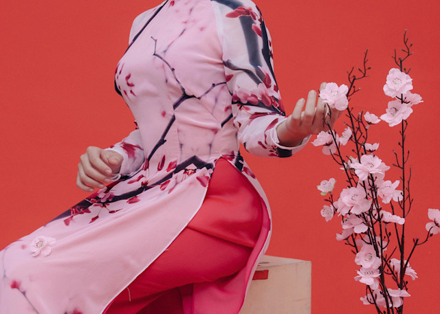 Cherry Blossom Ao Dai 3 Photography Art | David Louis Klein