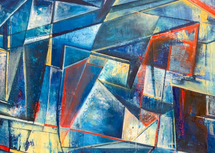 Blue Balance Art | Kristyn Watterworth