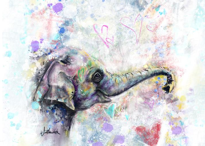 Elephant Love Art | Kristyn Watterworth