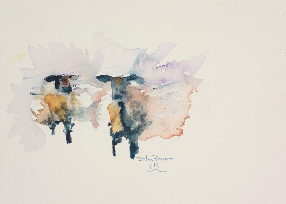 Two Blue Ewes  Art | Debra Bruner Studio