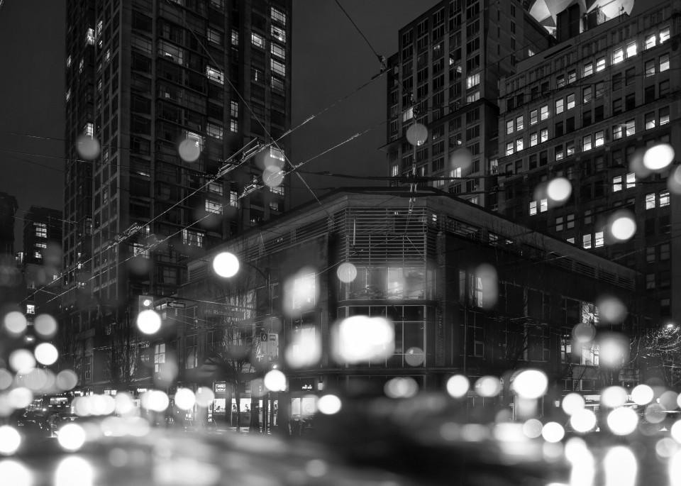 Gastown Lights B&W Art | James Alfred Friesen