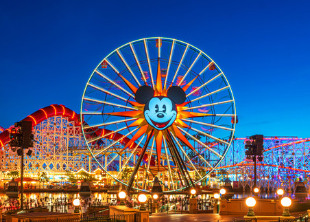 Disneyland Pixar Pier at Dusk - California Adventure Pictures