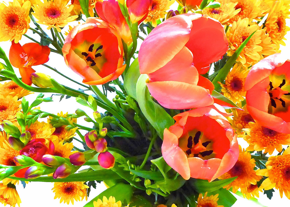 Orange Bouquet  Art | JackieRobbinsStudio