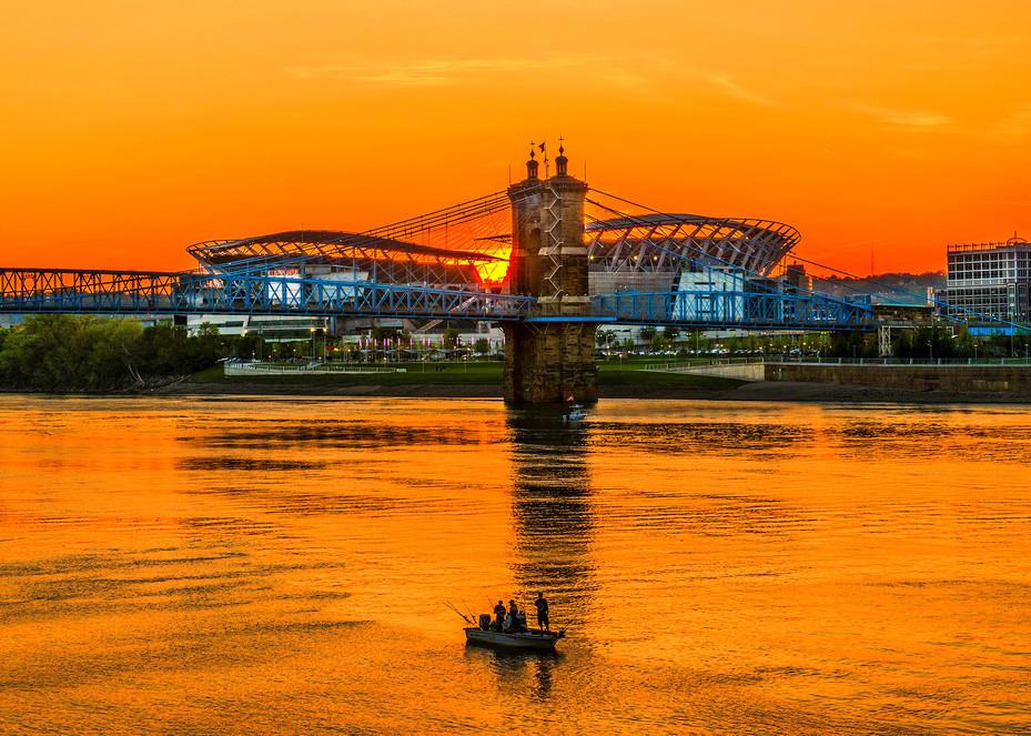 Bengals Sunset Photography Art   Studio 221 Photography