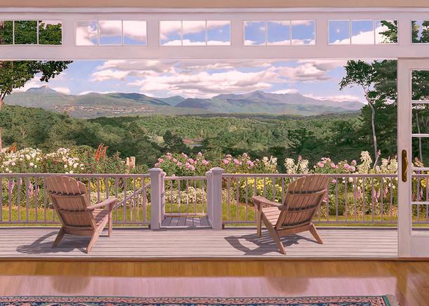 Green Mountain View Art   The Huntington Studio