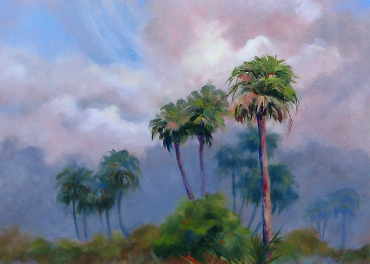 Storm in the 'Glades, From an Original Oil Painting