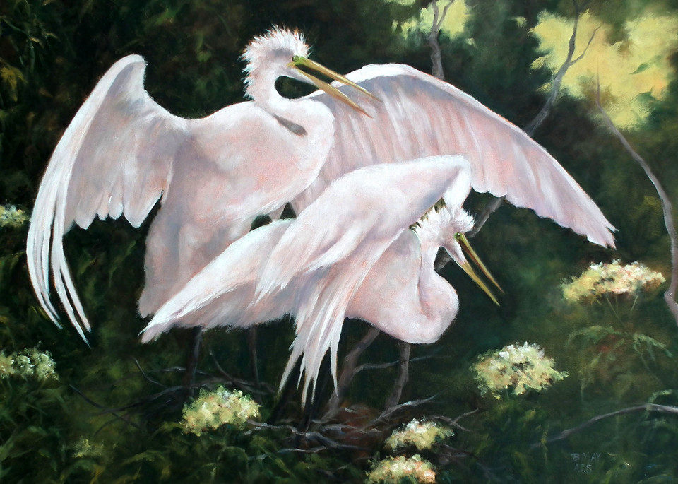 Love Nest, From an Original Oil Painting