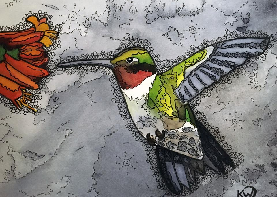 Hummingbird #4 Art | Water+Ink Studios