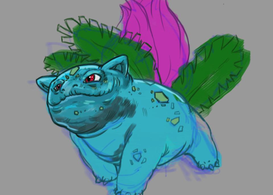 Ivysaur V.2 Art   Matt Pierson Artworks