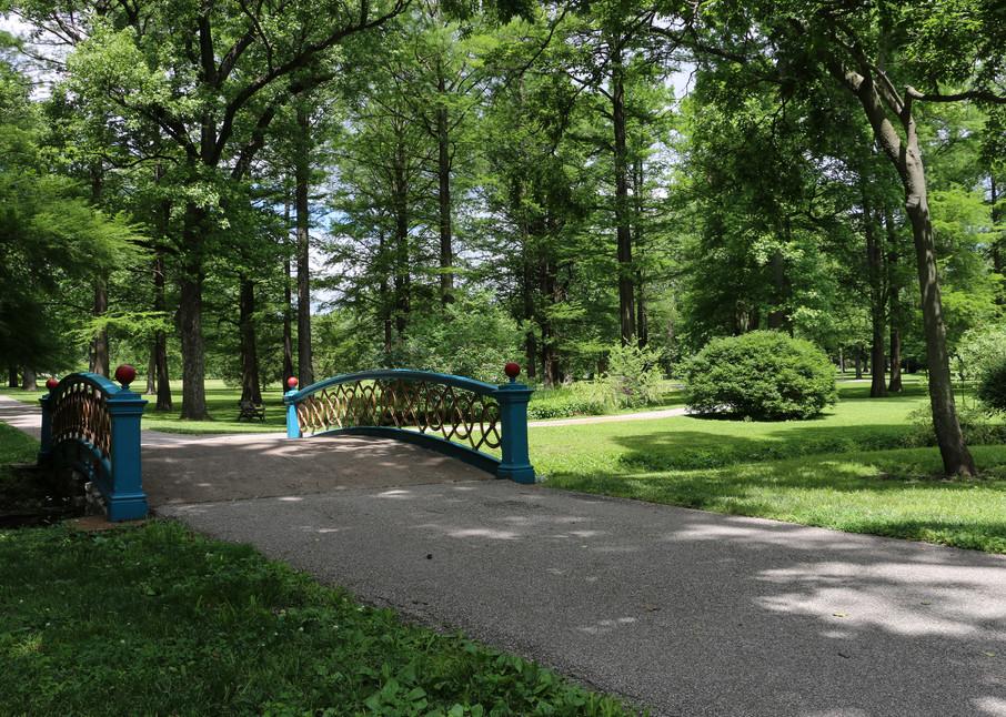 Footbridge in Tower Grove Park