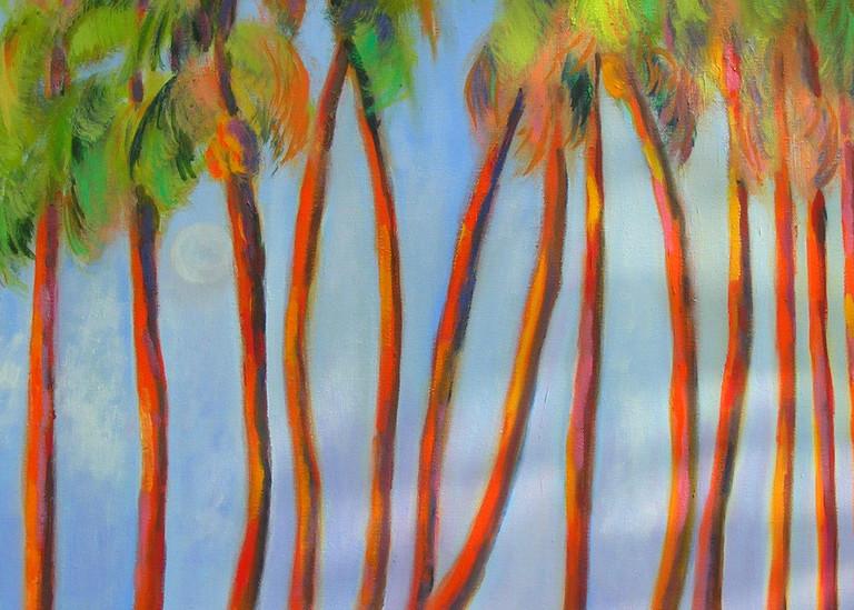 Dancing Palms, Original Acrylic Painting