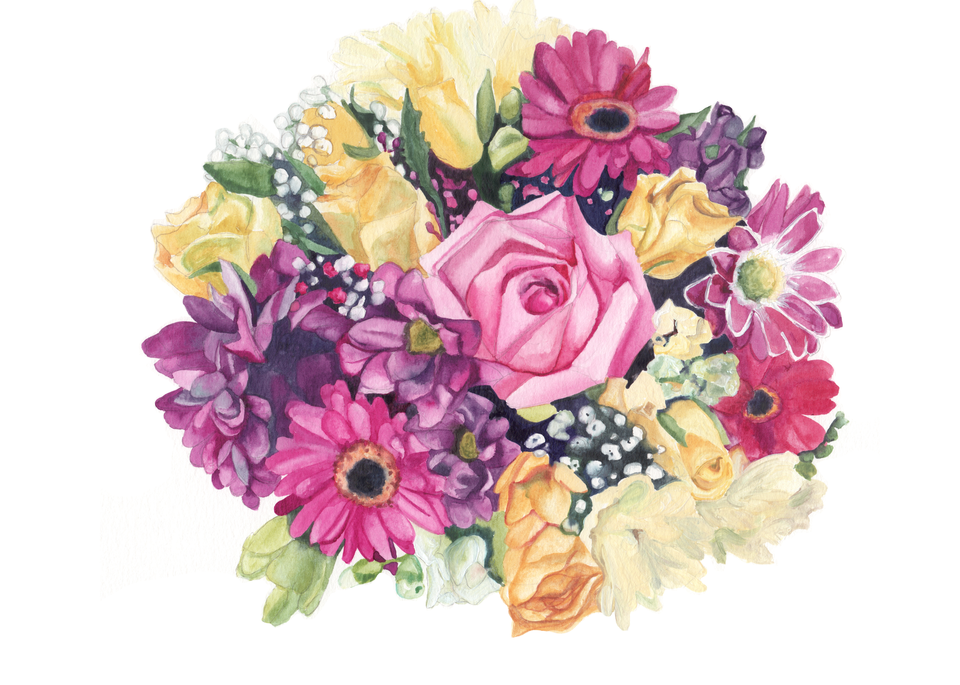 Inspired Birth Bouquet | Watercolor