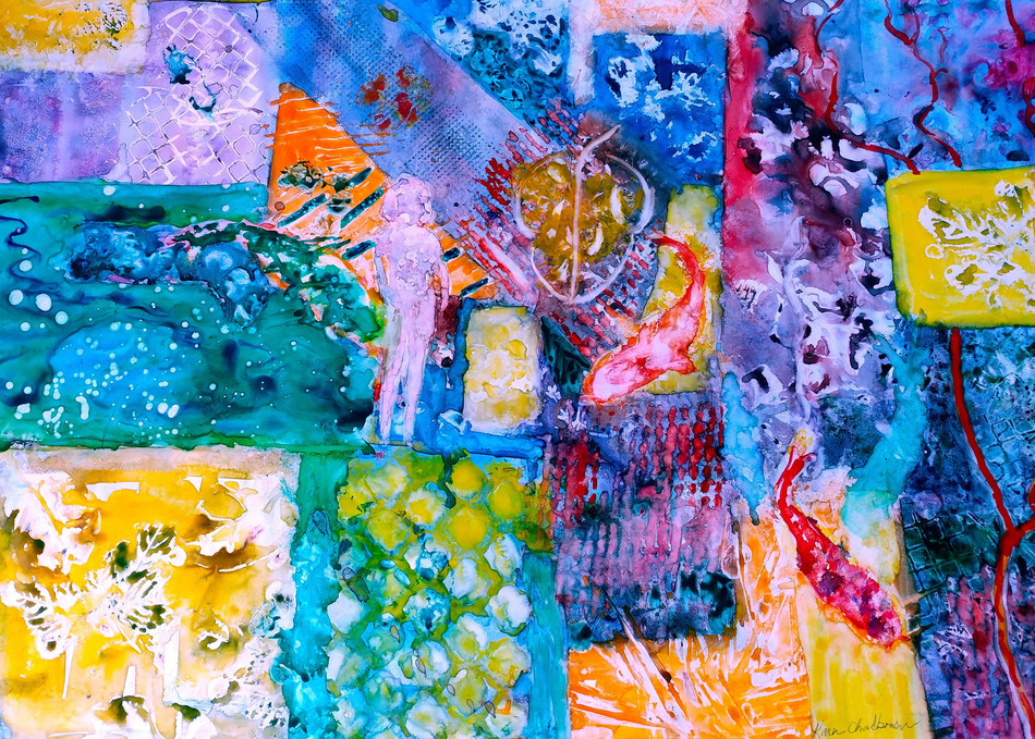 Abstract, From an Original Watercolor Painting