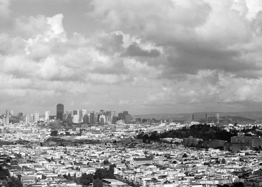 San Francisco On A Cloudy Day Photography Art | David Louis Klein