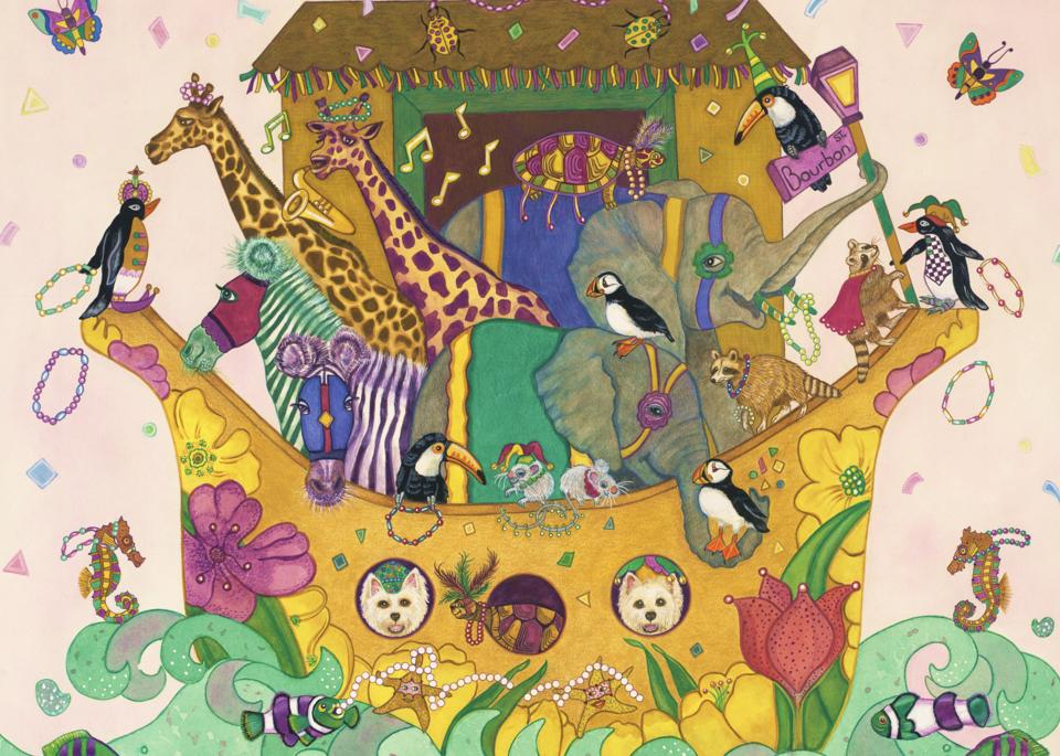 New Orleans Mardi Gras; Noah's Ark Poster