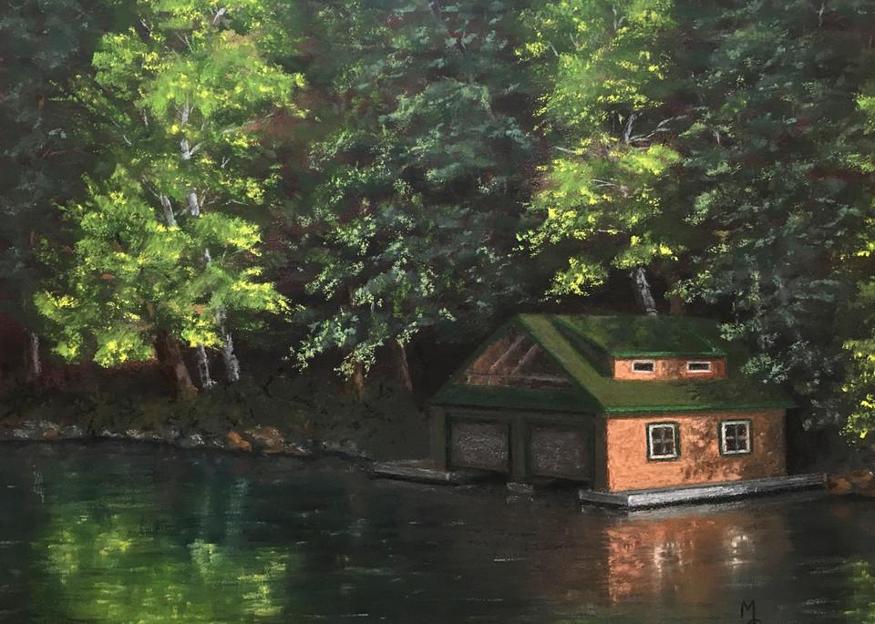 Tranquil Saranac Morning Art | Mark Grasso Fine Art