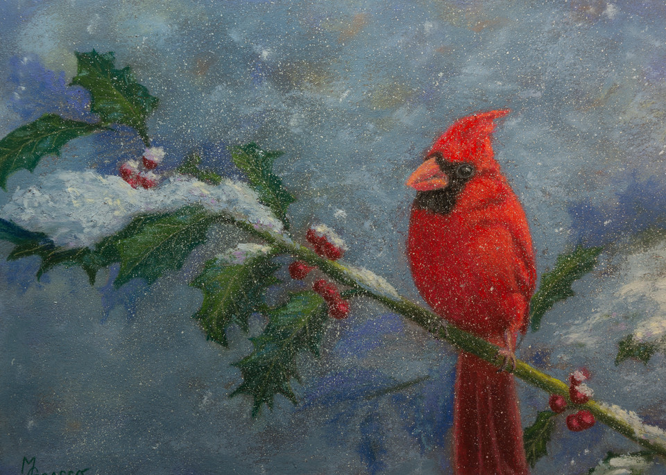 Cardinal And Holly Art | Mark Grasso Fine Art