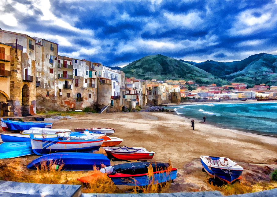 Waterfront Beach at Cefalu, Sicily