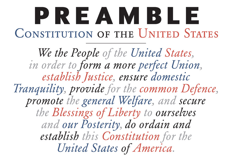 Preamble To Constitution  Art | DBA George Delany Art