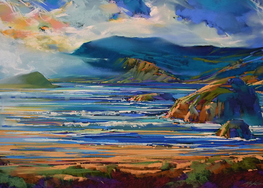 Oregon Coastal Blue Art | Michael Mckee Gallery Inc.