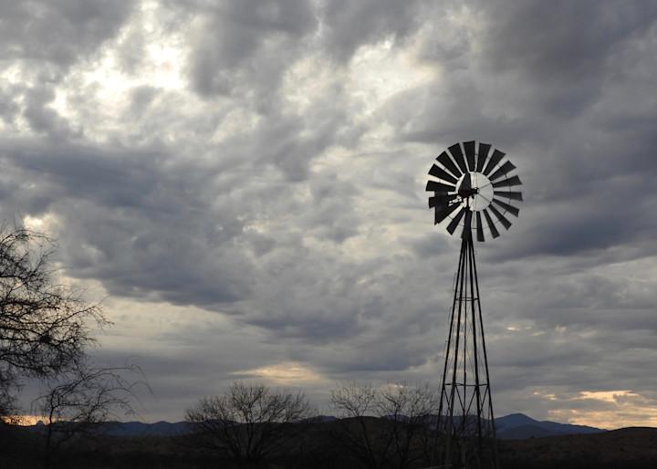 Windmill Storm Photography Art | Galeria Mañana
