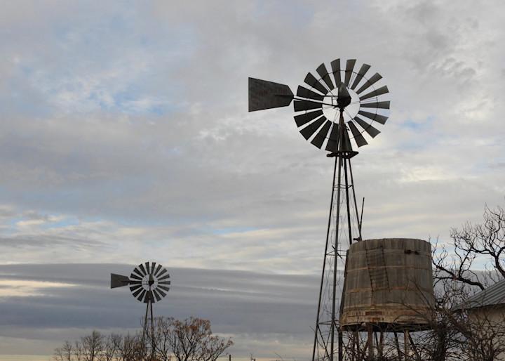Two Windmills In Marathon Photography Art | Galeria Mañana