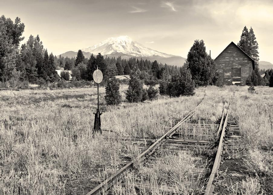 Mt Shasta From Mc Cloud Rr Tracks California Art | Shaun McGrath Photography