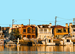 Balboa Peninsula Panorama Art   Shaun McGrath Photography