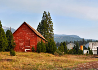 a view to mount shasta from the town of mccloud