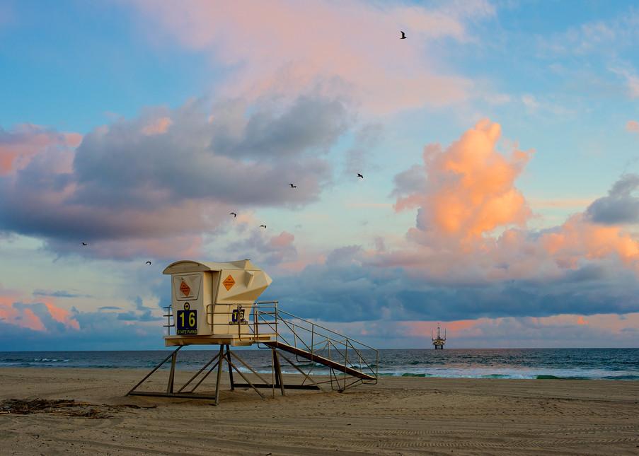 Lifeguard Stand And Clouds Art | Shaun McGrath Photography
