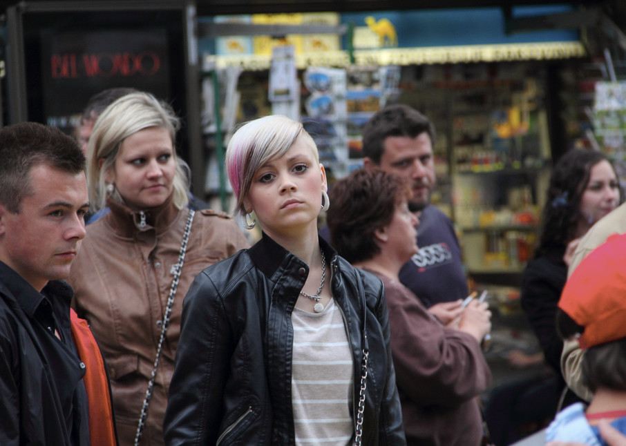Girl In The Crowd Photography Art | Dan Katz, Inc.