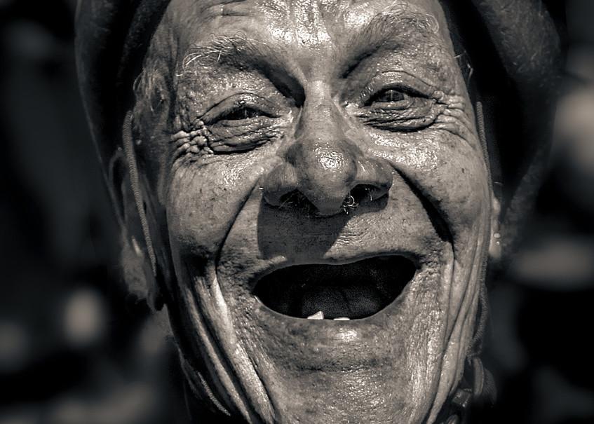 Laughing Man At Ciclavia 2018 Photography Art | Dan Katz, Inc.