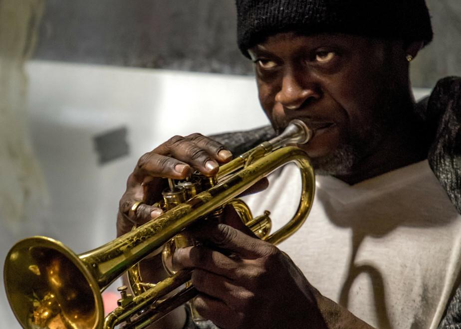 Street Trumpet New Orleans B 2017 Photography Art   Dan Katz, Inc.