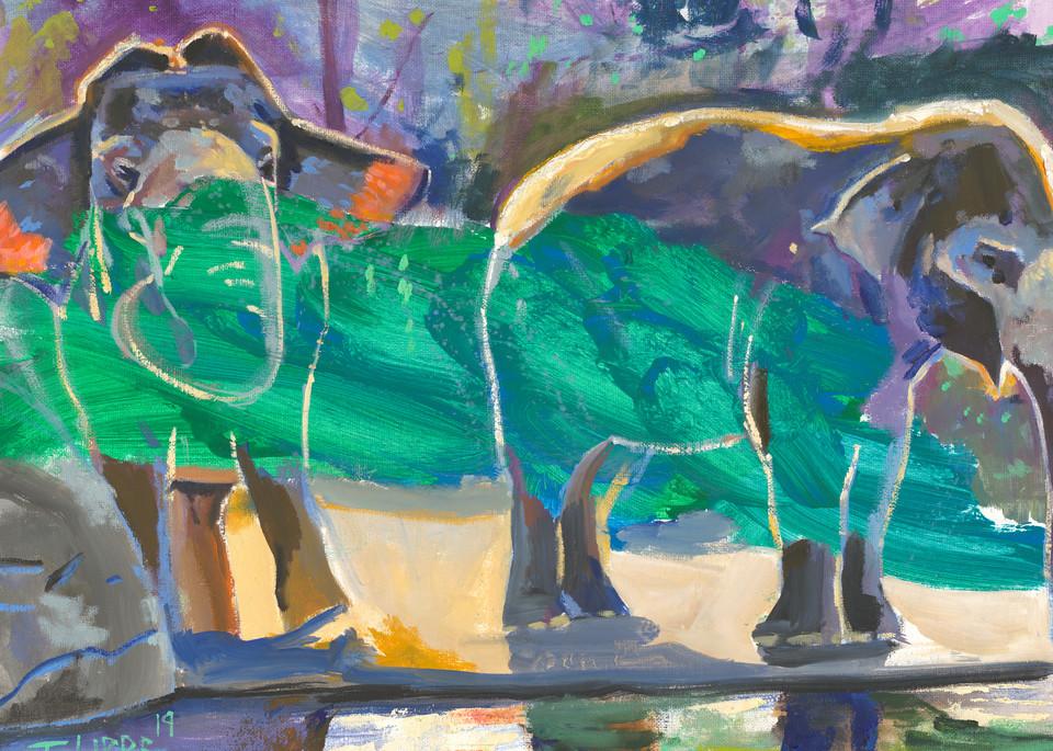 Portrait of Elephants Print