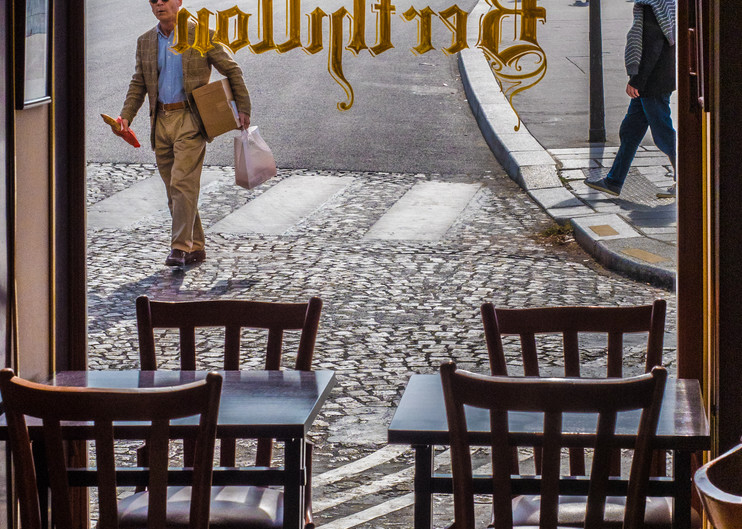 Man Walking With Baguette, Paris/sold by Ben Asen Photography