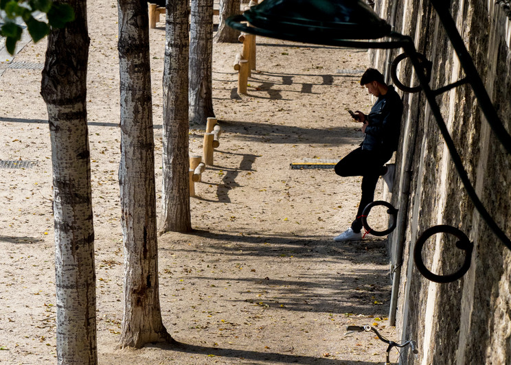 Man Resting, Paris/sold by Ben Asen Photography
