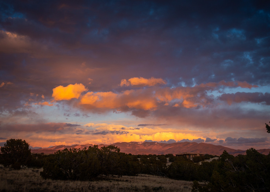 Sangre De Christo Mountains at sunset