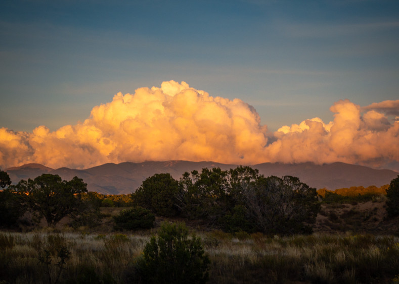 Sunset Clouds above Sangre De Christo Mountains