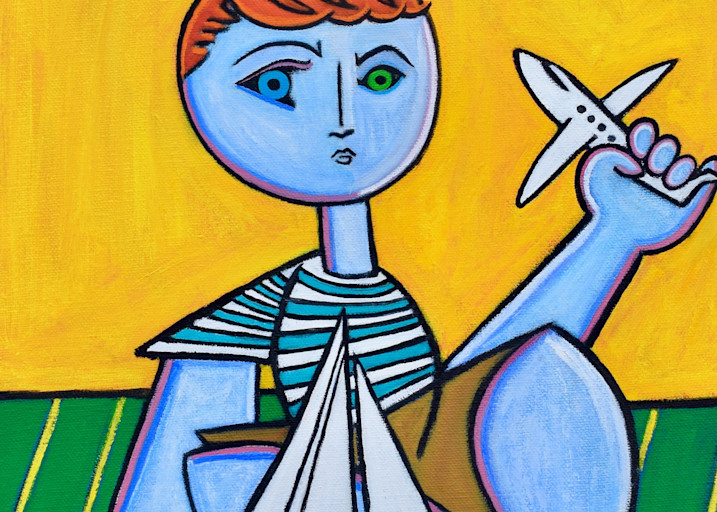 Boy With Boy And Plane Art | Wet Paint NYC
