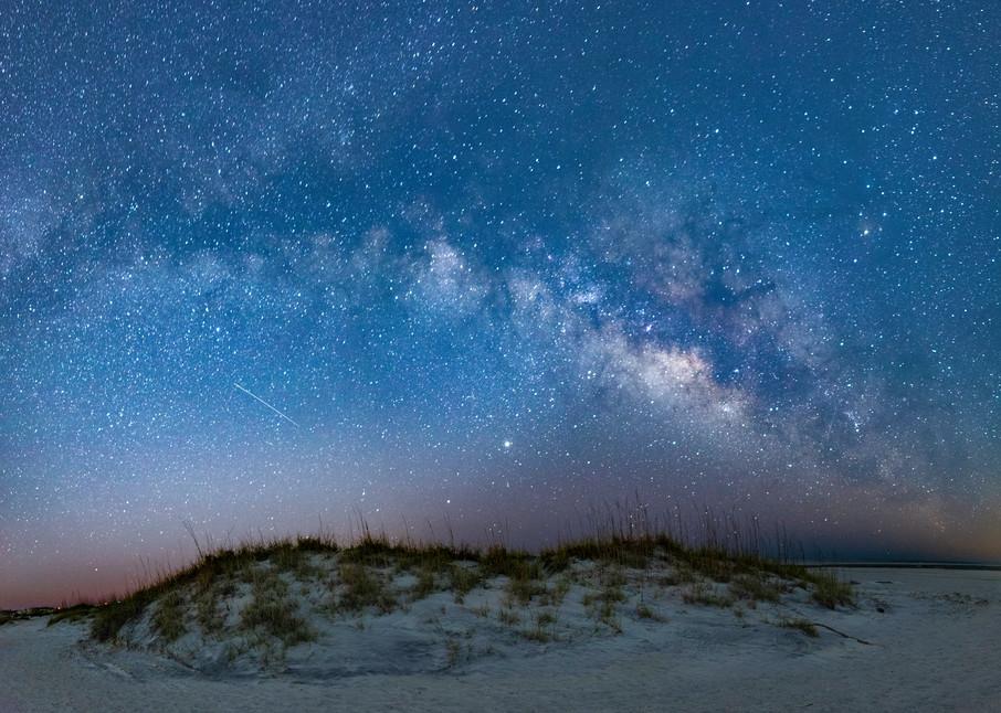 Tybee Sand Dunes Milky Way Pano