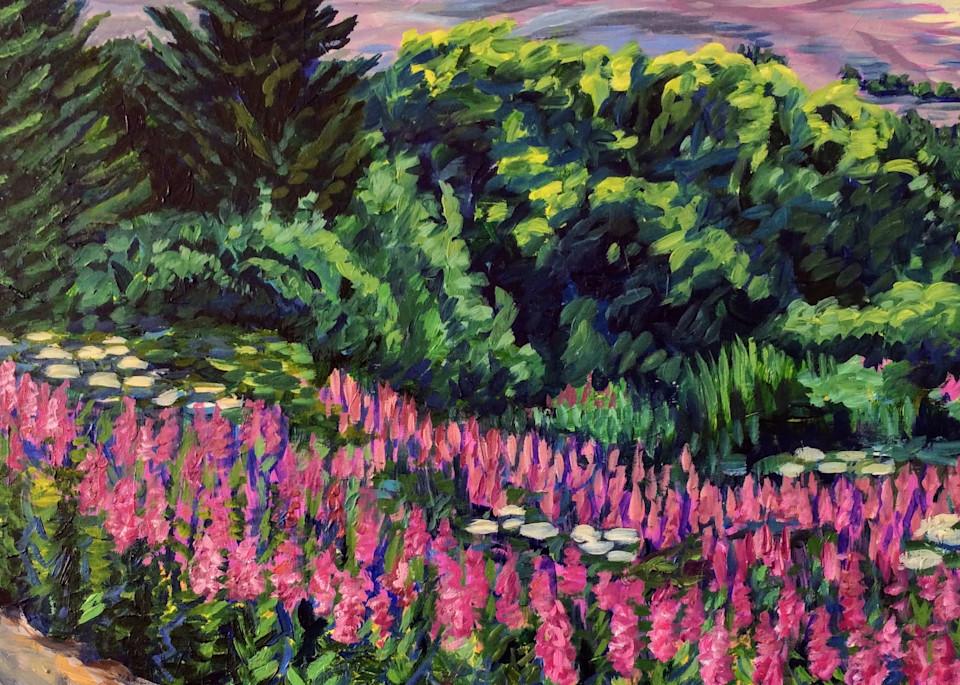 Homer Hillside Fireweed Art | Amanda Faith Alaska Paintings / Estuary Arts, LLC