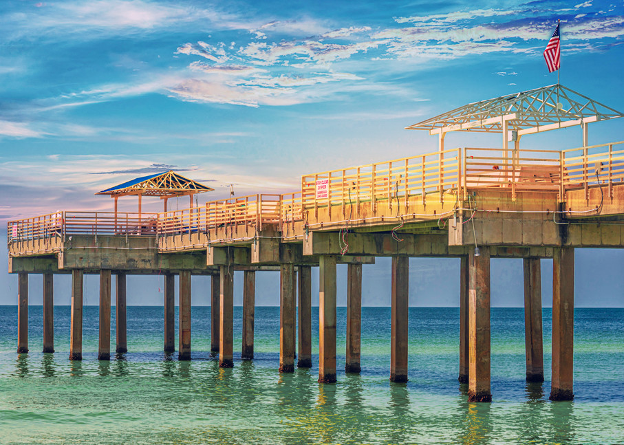 Pensacola pier as a digitally altered photograph