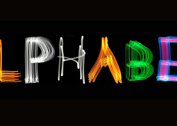 Alphabet Light Painting Photography Art | David Louis Klein