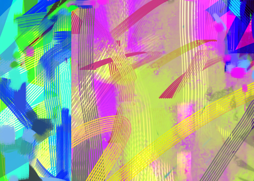 High Chroma Abstract 1 Art | Matt Pierson Artworks