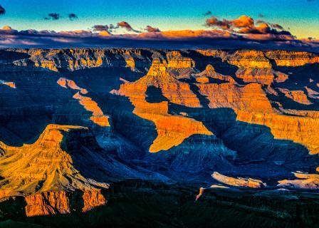 Grand Canyon Pan Sunset Photography Art | vitopalmisano