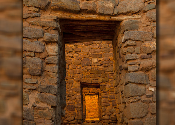 Aztec Doorway Pano 3 D Photography Art | Whispering Impressions