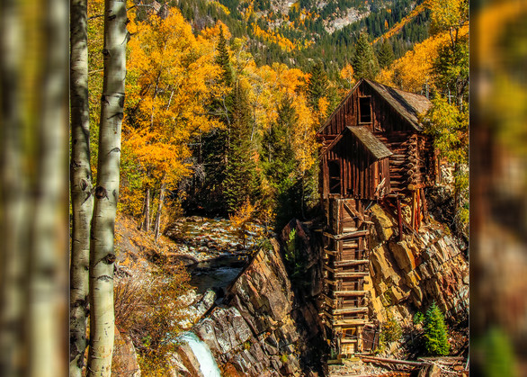 Crystal Mill   The Old Mill Pano V 3 D Photography Art | Whispering Impressions