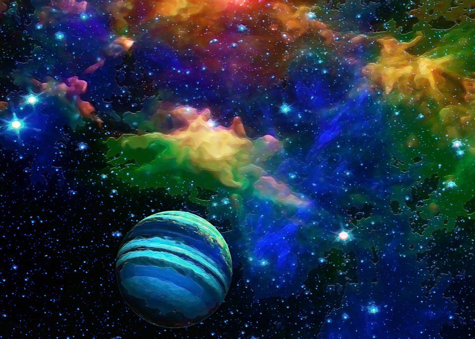 Space Fantasy Art - Great Blue - Don White Art Dreamer